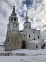 Рождество-Богородицкая церковь Боголюбова монастыря (рсн. в 1155г.)