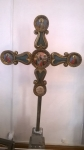Крест запрестольный выносной. 1823 г.  На обороте текст: Написан сей крест тщанием пападьи Параскевы Дмитриевной