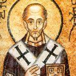 Святитель Иоанн Злаоуст. Византийская мозаика, XI век, собор св.Софии в Киеве.