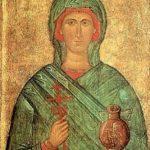 Великомученица Анастасия Узорешительница. Византийская икона XV века.