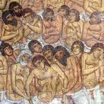 """Сорок мучеников Севастийских. Фреска XIIвека в церкви Панагии Форвьетисы в Осину. Кипр. Фото Игоря Самoлыго. Источник: """"Православие и мир"""""""