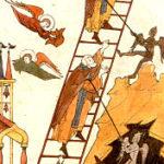 """Миниатюра из книги """"Лествица Иоанна Лествичника с дополнениями"""". 1622 год. Происходит из Николо-Угрешского монастыря под Москвой."""