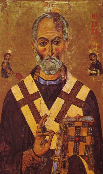 Святитель Николай. Икона, Синай, XIII век (Византия).