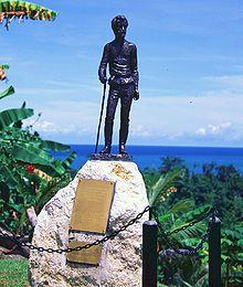 Памятник Маклаю на Новой Гвинее