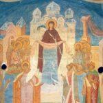 Покров Пресвятой Богородицы. Фреска Дионисия из Ферапонтова монастыря. Нач. XVI века.