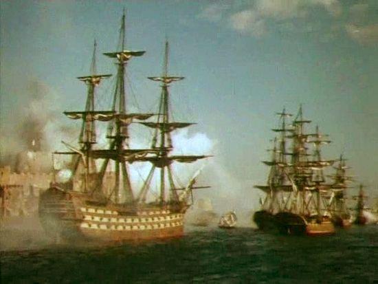 Штурм Корфу. Кадр из фильма «Корабли штурмуют бастионы»